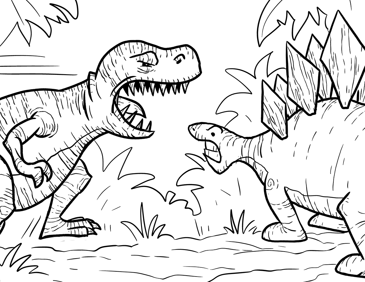 Tyrannosaurus Rex coloring #1, Download drawings