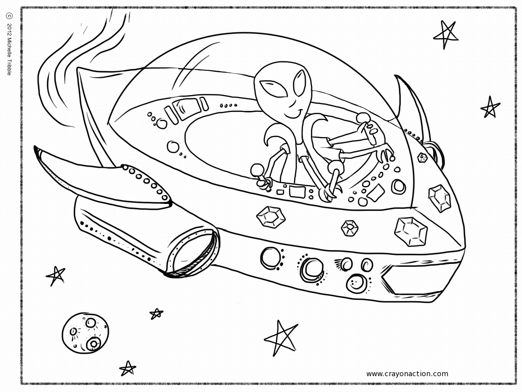 UFO coloring #11, Download drawings