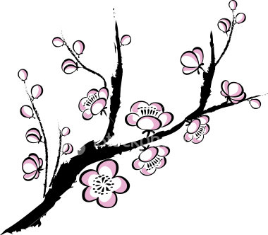 Ume Blossom clipart #5, Download drawings
