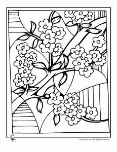Ume Blossom coloring #9, Download drawings