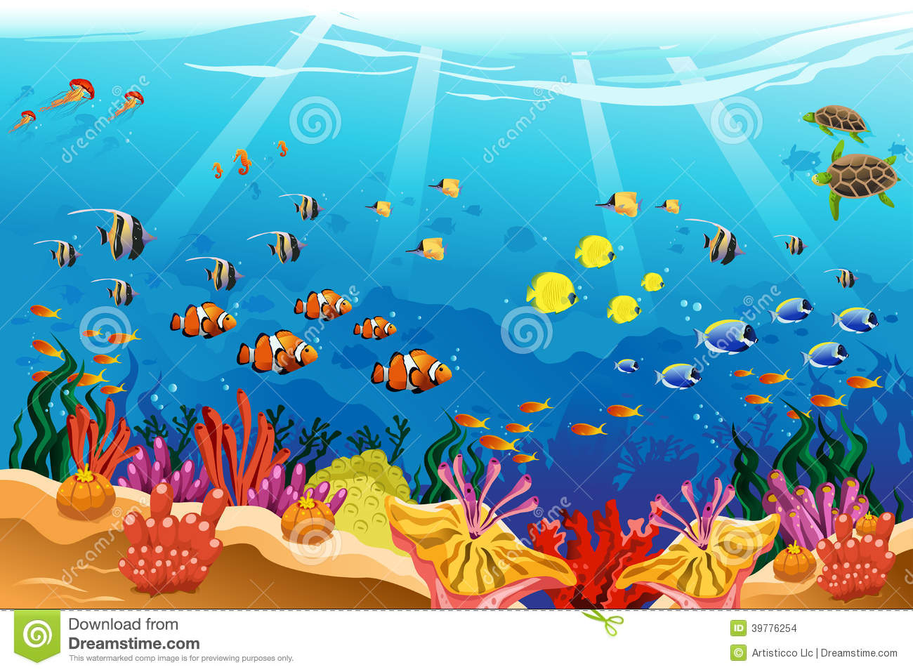 Underwater clipart #4, Download drawings