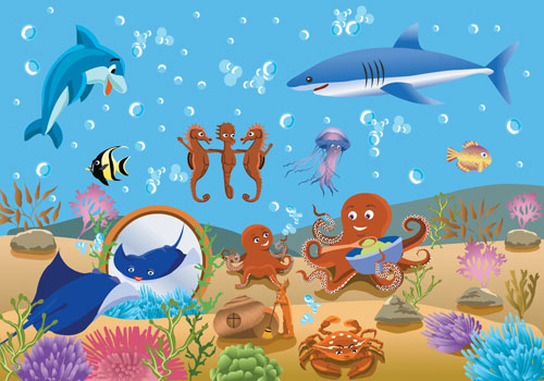 Underwater clipart #17, Download drawings