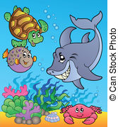 Underwater clipart #2, Download drawings