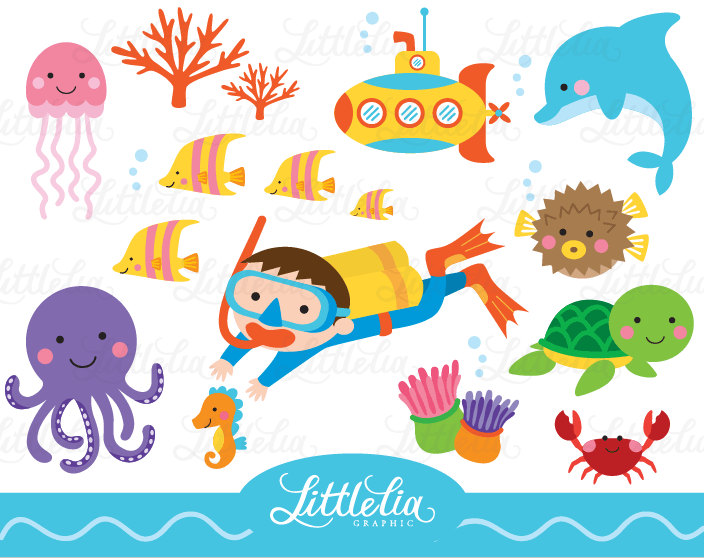 Underwater clipart #12, Download drawings
