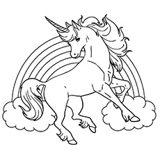 Unicorn coloring #20, Download drawings