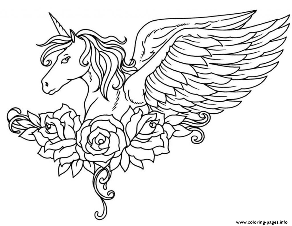 Unicorn coloring #12, Download drawings