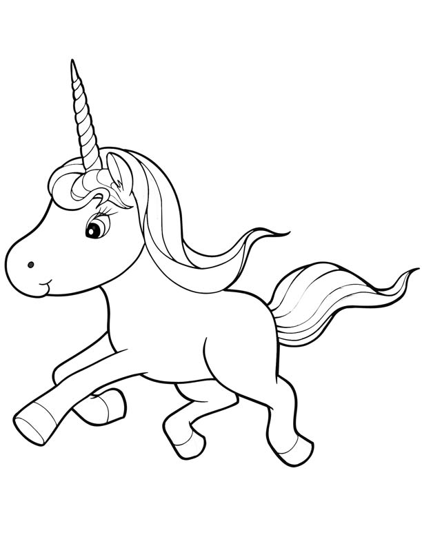 Unicorn coloring #16, Download drawings