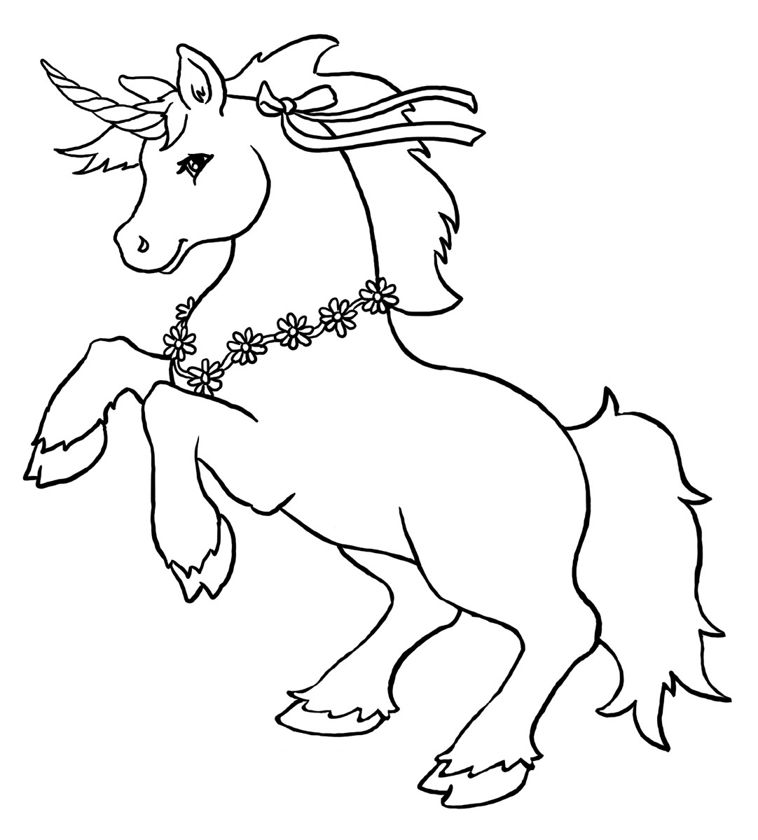 Unicorn coloring #14, Download drawings