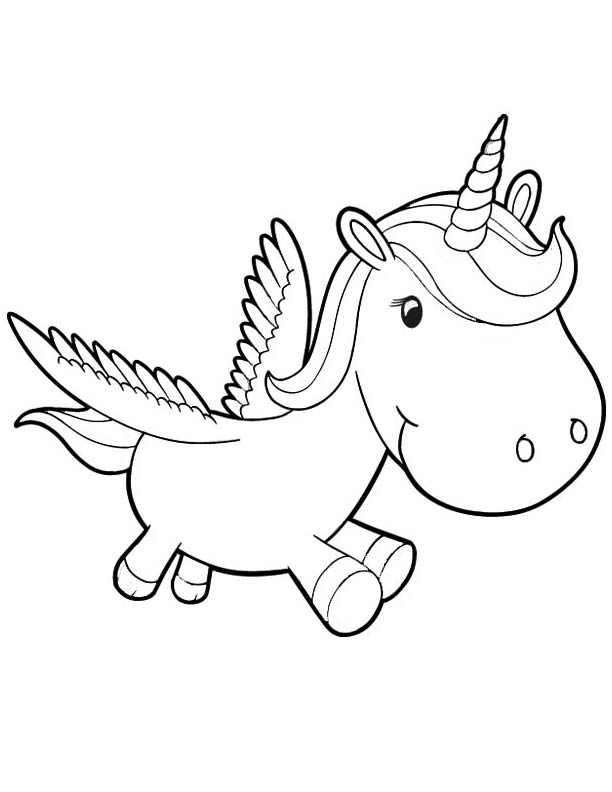 Unicorn coloring #13, Download drawings