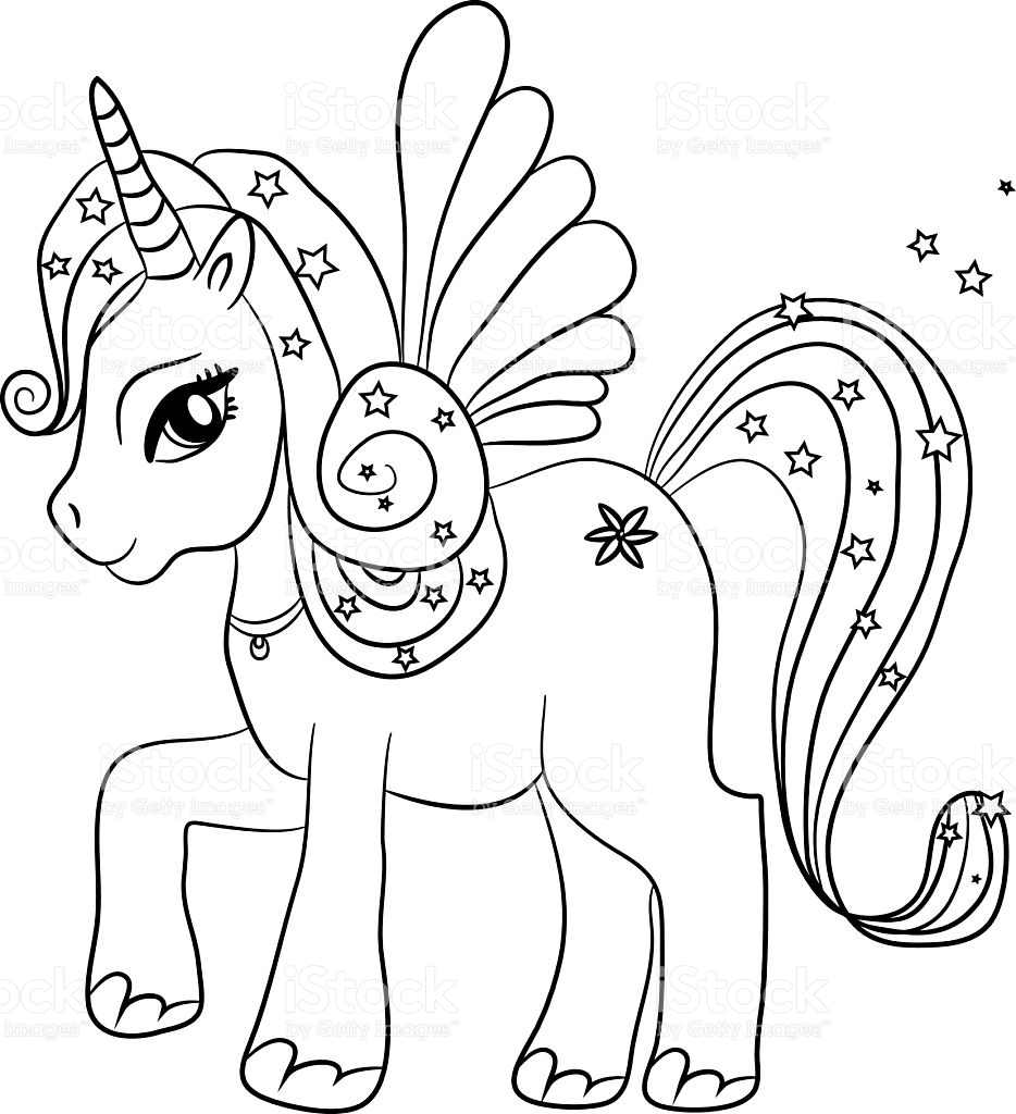 Unicorn coloring #3, Download drawings