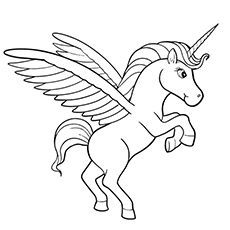 Unicorn coloring #18, Download drawings