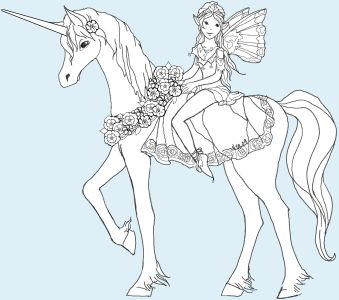 Unicorn coloring #5, Download drawings