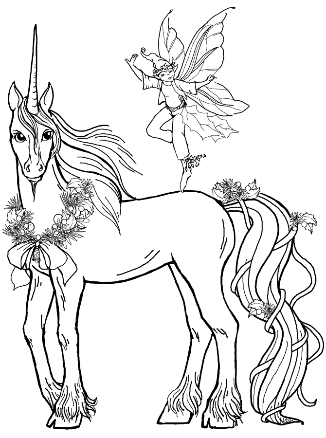 Unicorn coloring #4, Download drawings