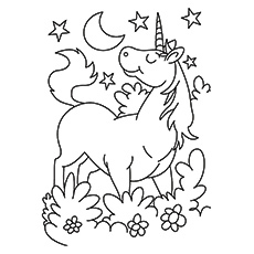Unicorn coloring #17, Download drawings