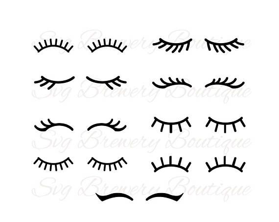 unicorn lashes svg #1008, Download drawings
