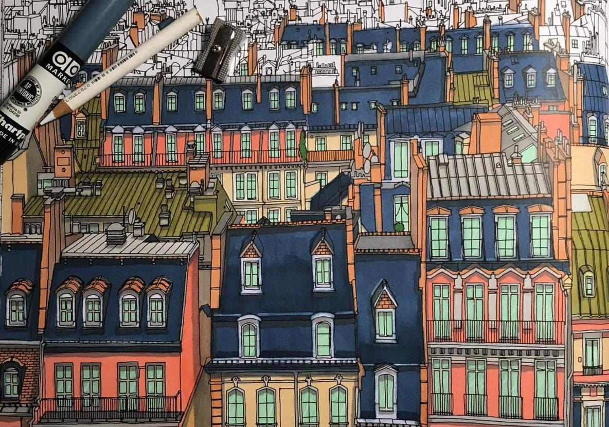Urban coloring #3, Download drawings