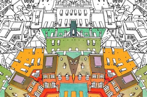 Urban coloring #13, Download drawings