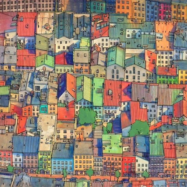 Urban coloring #6, Download drawings