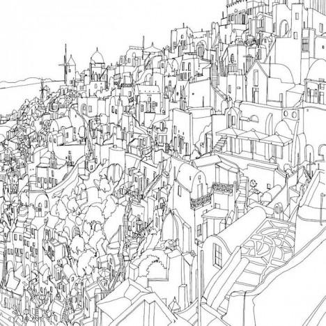 Urban coloring #17, Download drawings