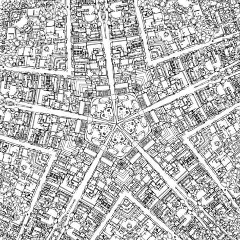 Urban coloring #18, Download drawings