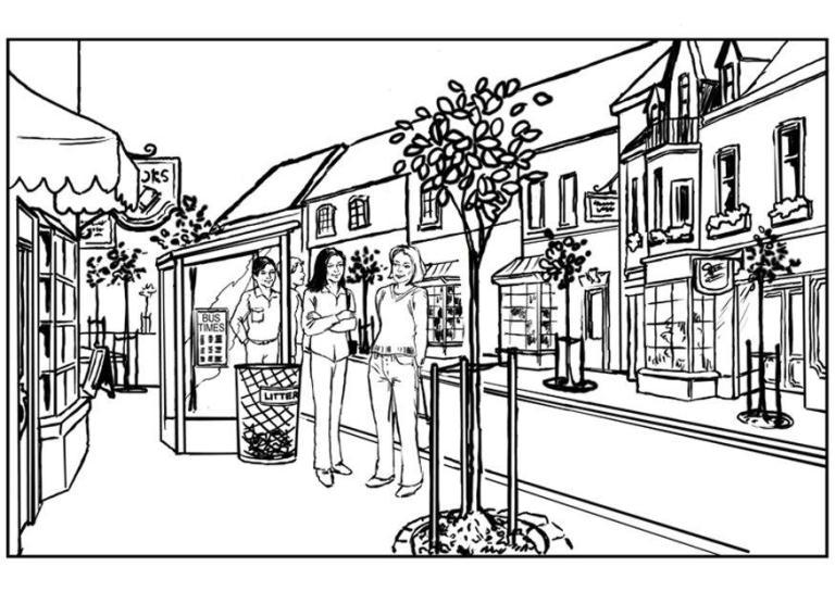 Urban coloring #16, Download drawings
