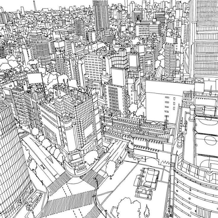 Urban coloring #12, Download drawings