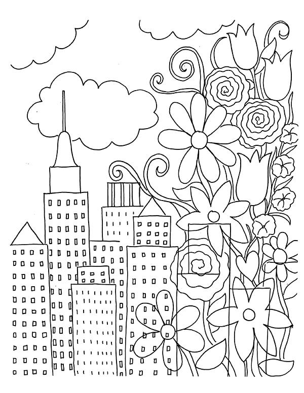 Urban coloring #15, Download drawings