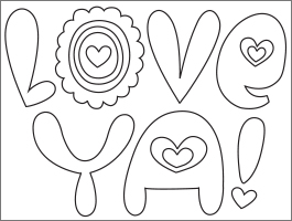 Valentine's Day coloring #15, Download drawings