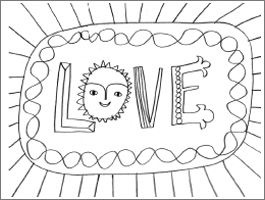 Valentine's Day coloring #9, Download drawings