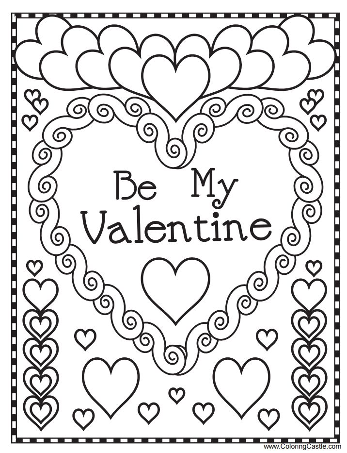 Valentine's Day coloring #16, Download drawings