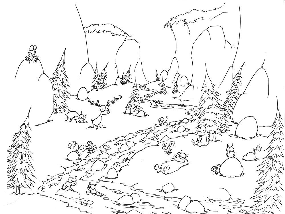 Valley coloring #6, Download drawings