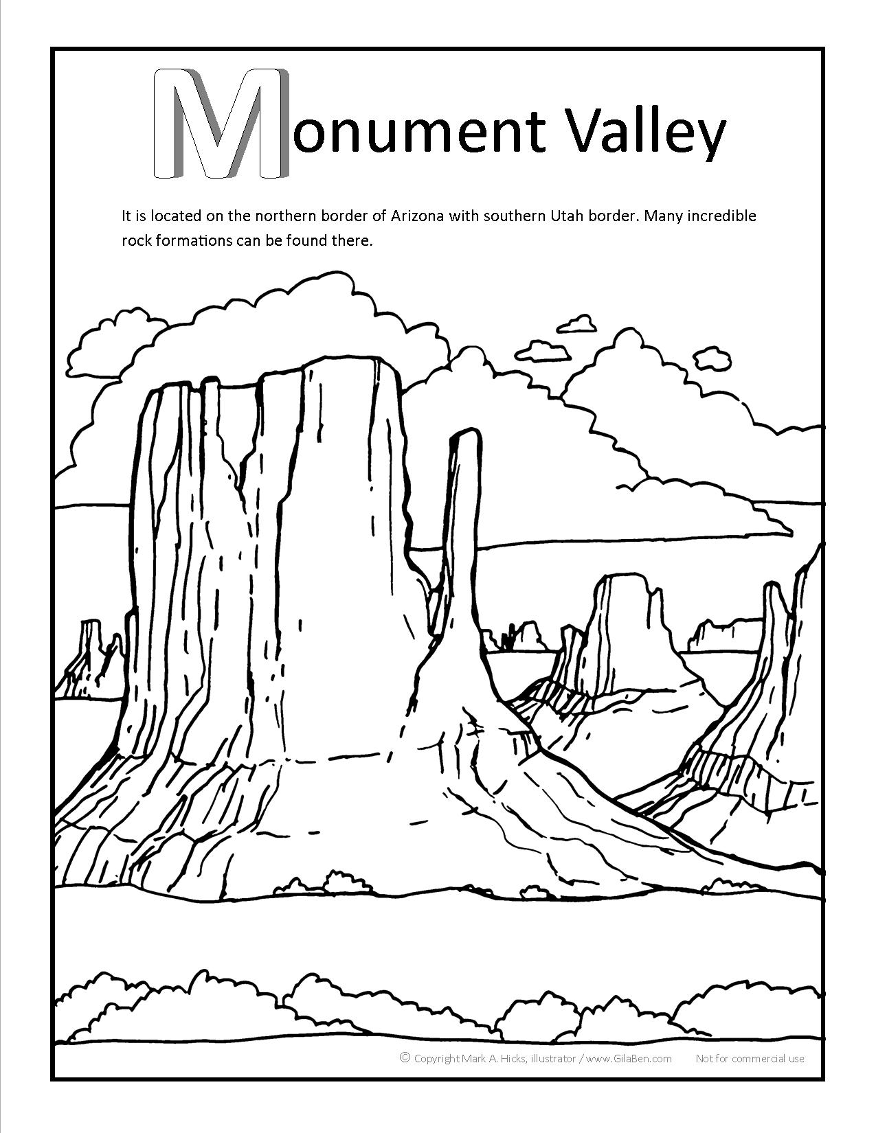 Grand Canyon coloring #9, Download drawings