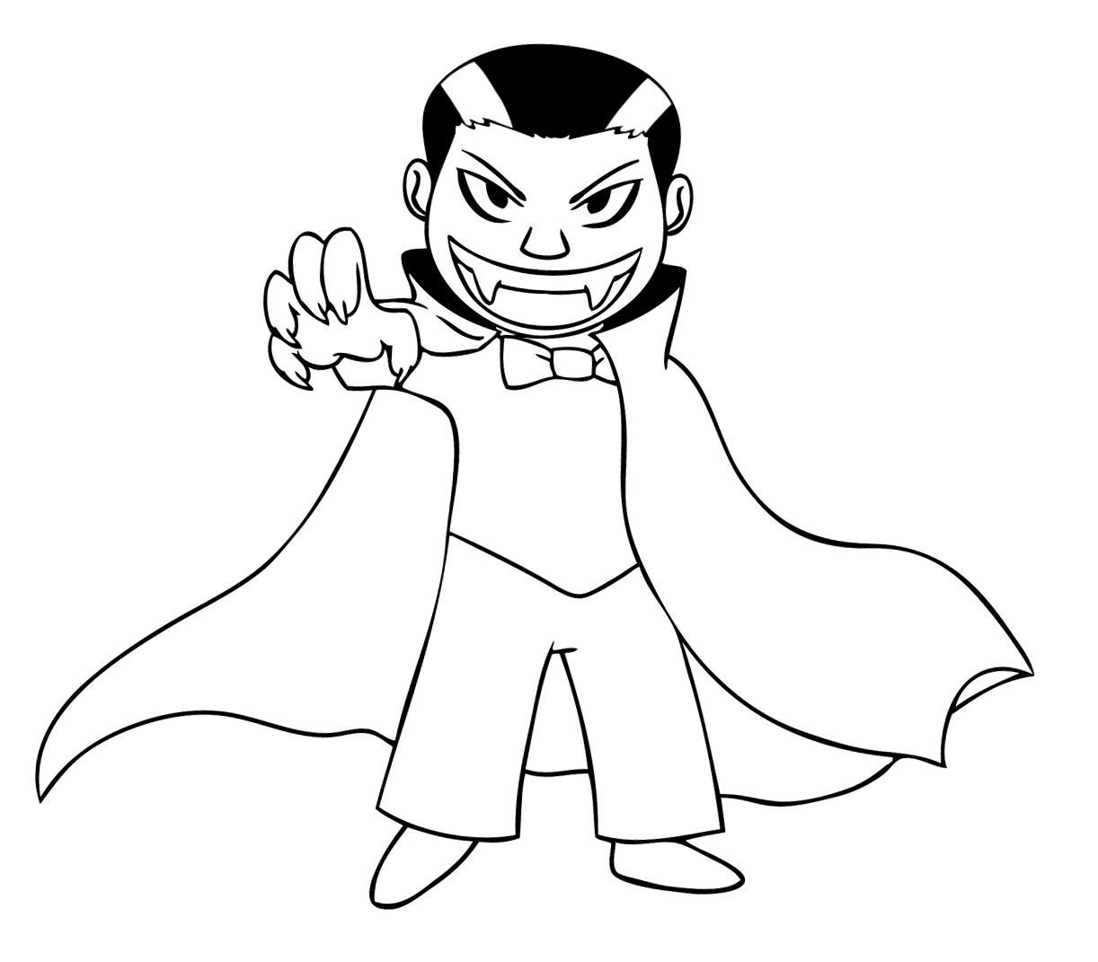 Vampire coloring #15, Download drawings