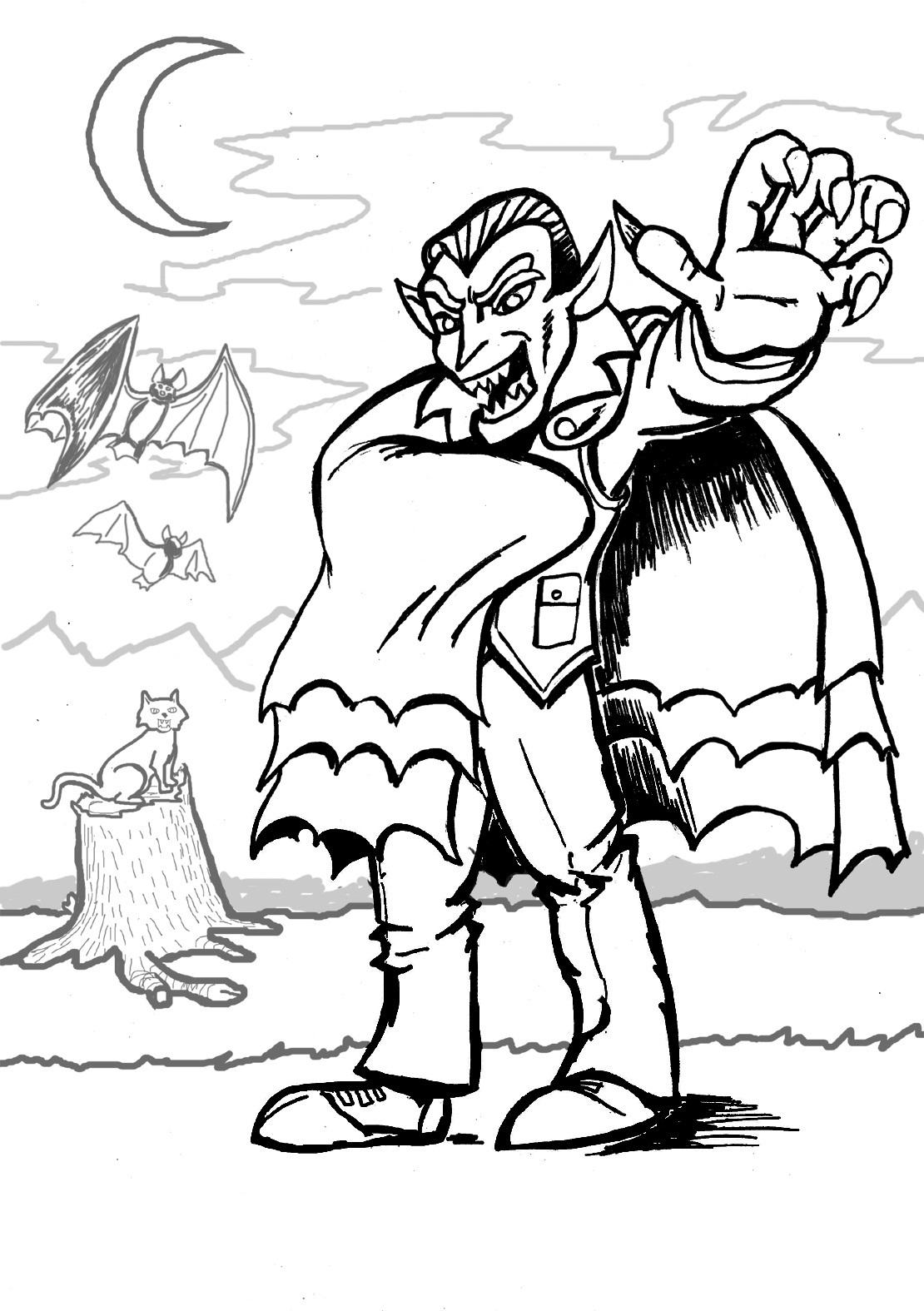 Vampire coloring #12, Download drawings