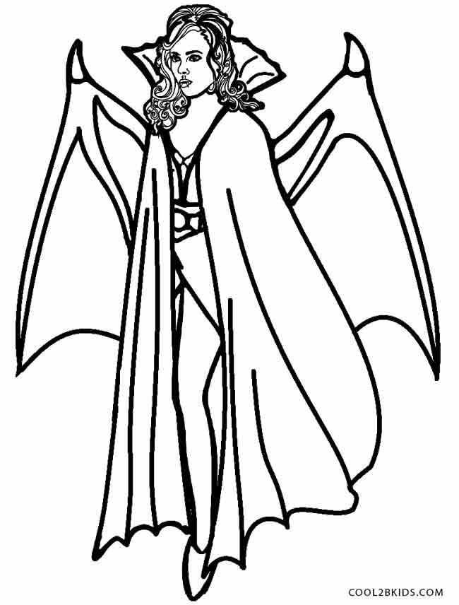 Vampire coloring #10, Download drawings