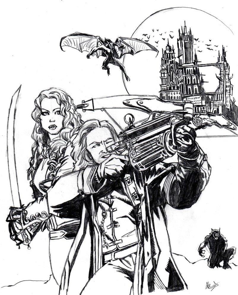 Van Helsing coloring #18, Download drawings