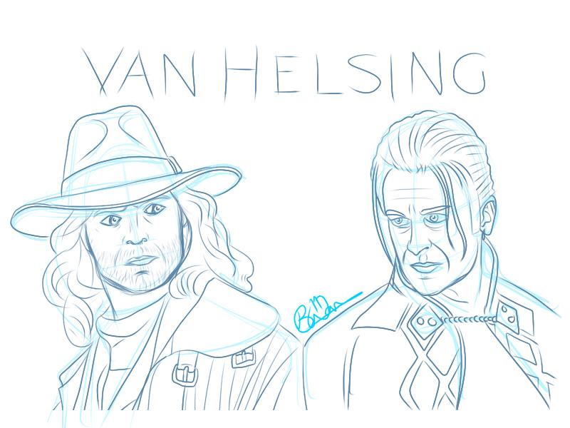 Van Helsing coloring #7, Download drawings