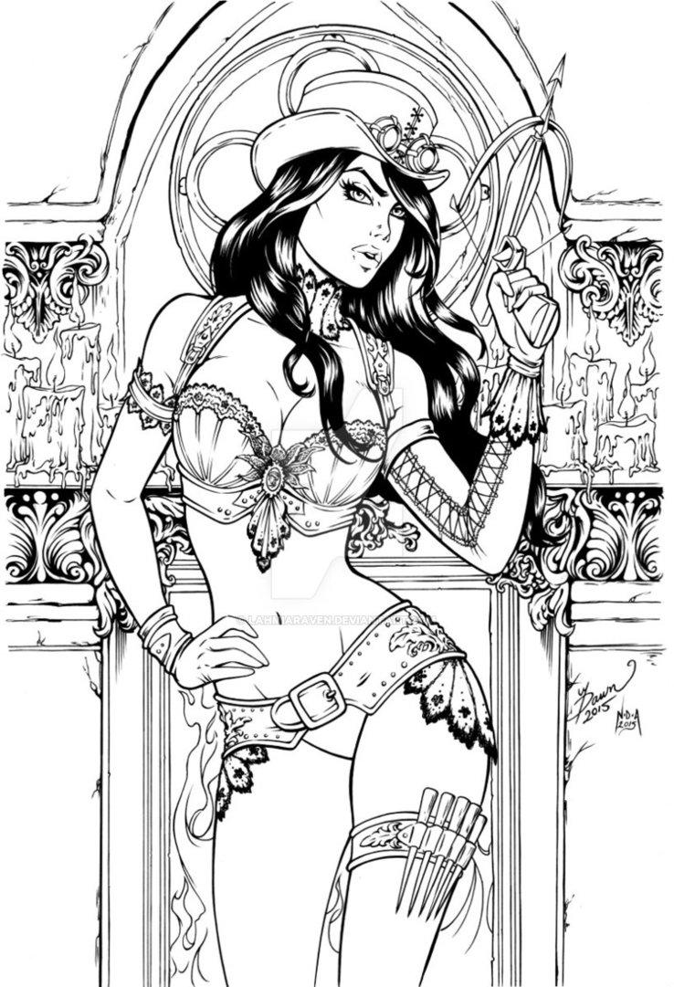 Van Helsing coloring #1, Download drawings