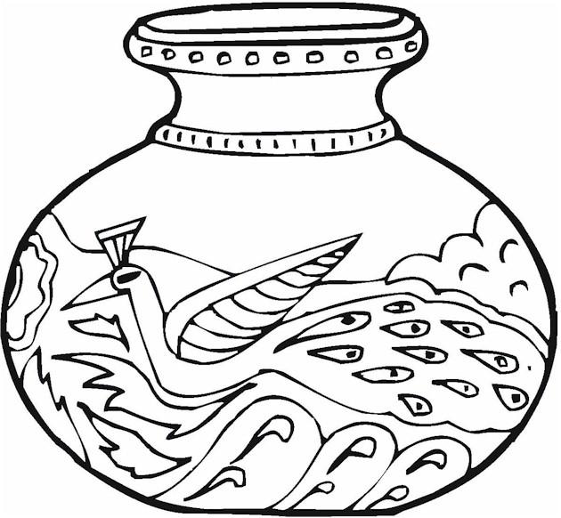 Vase coloring #18, Download drawings