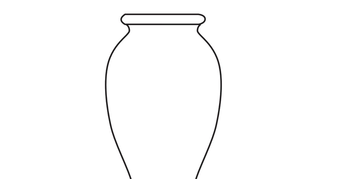 Vase coloring #16, Download drawings