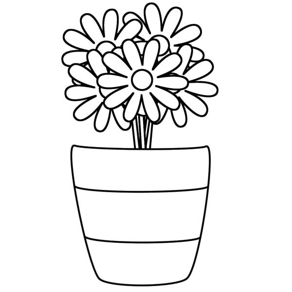 Vase coloring #2, Download drawings