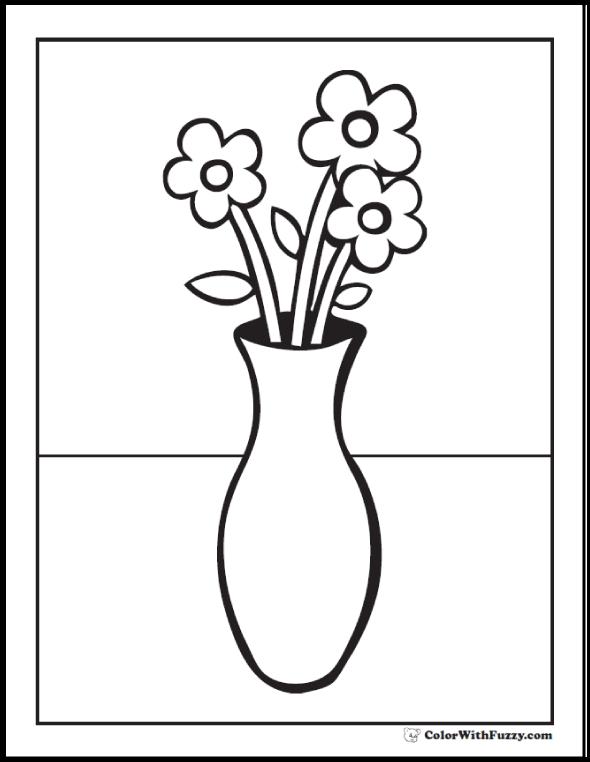 Vase coloring #8, Download drawings