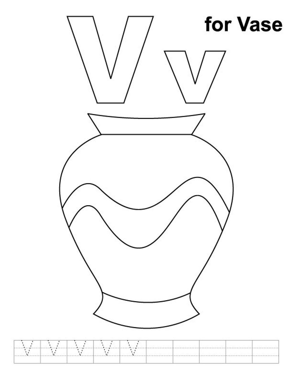 Vase coloring #12, Download drawings