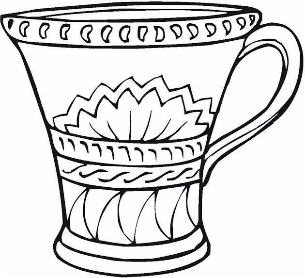 Vase coloring #10, Download drawings
