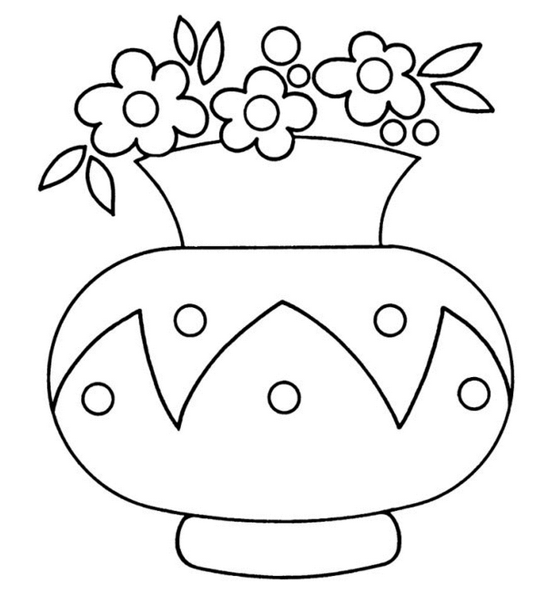 Vase coloring #9, Download drawings