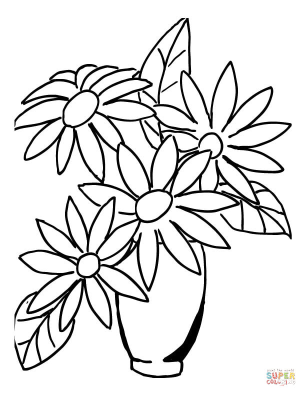 Vase coloring #5, Download drawings