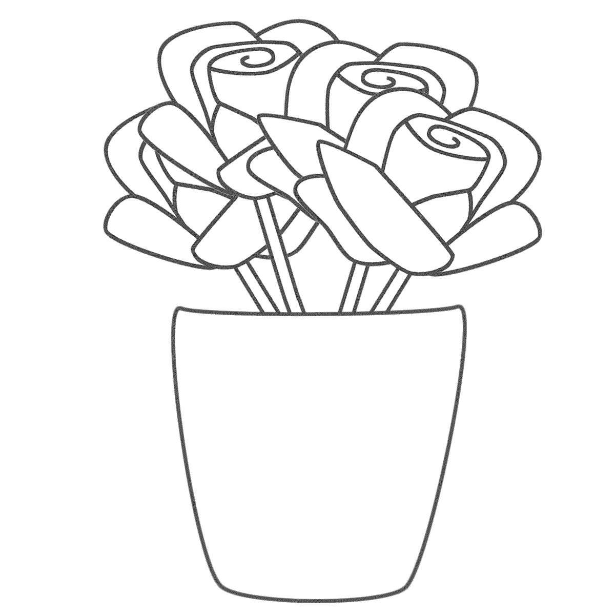 Vase coloring #19, Download drawings
