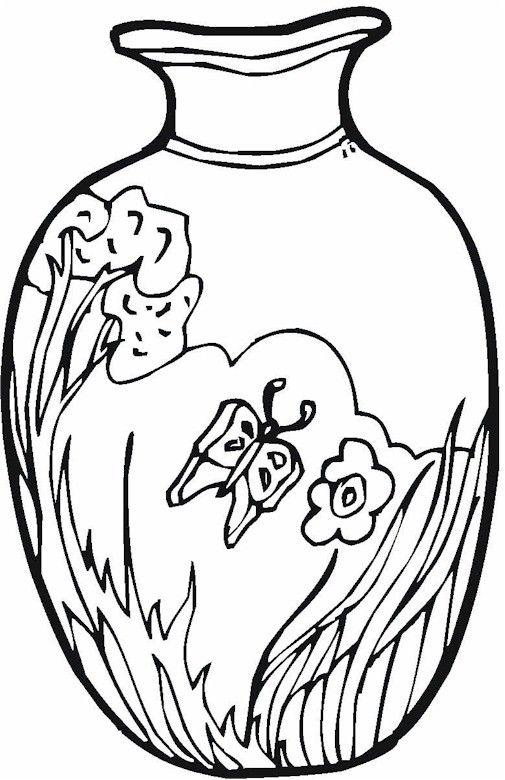 Vase coloring #17, Download drawings