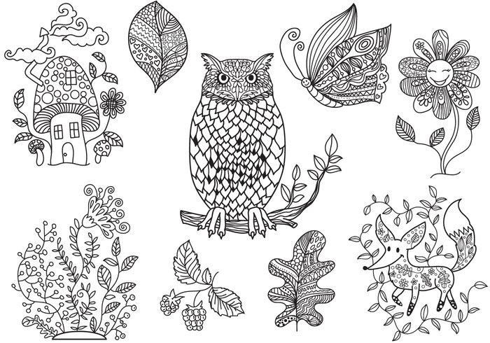 Vector coloring #1, Download drawings