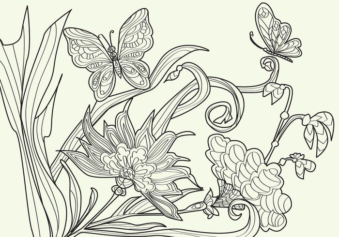 Vector coloring #5, Download drawings